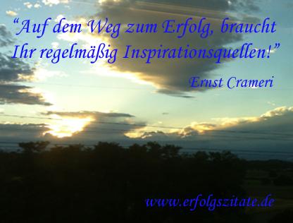 Auf dem Weg zum Erfolg, braucht ihr regelmäßig Inspirationsquellen