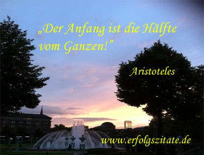 Aristoteles - Der Anfang ist die Hälfte vom Ganzen